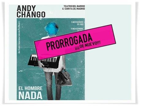 """Andy Chango prorroga de nuevo """"El hombre nada"""" en el Teatro del Barrio"""