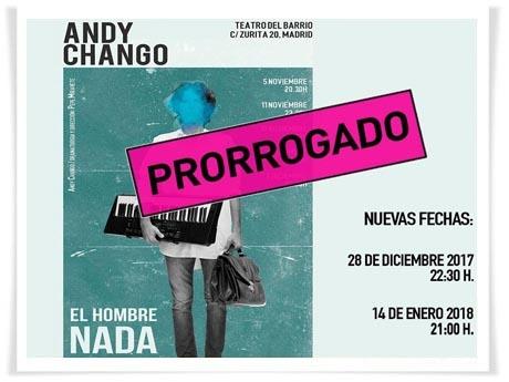 """Última función de """"El hombre nada"""" en Madrid el 14 de enero"""