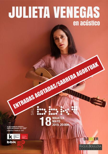"Julieta Venegas ""en acústico"" SOLD OUT"